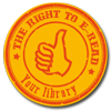 Emblem der Kampagne: The Right to E-Read